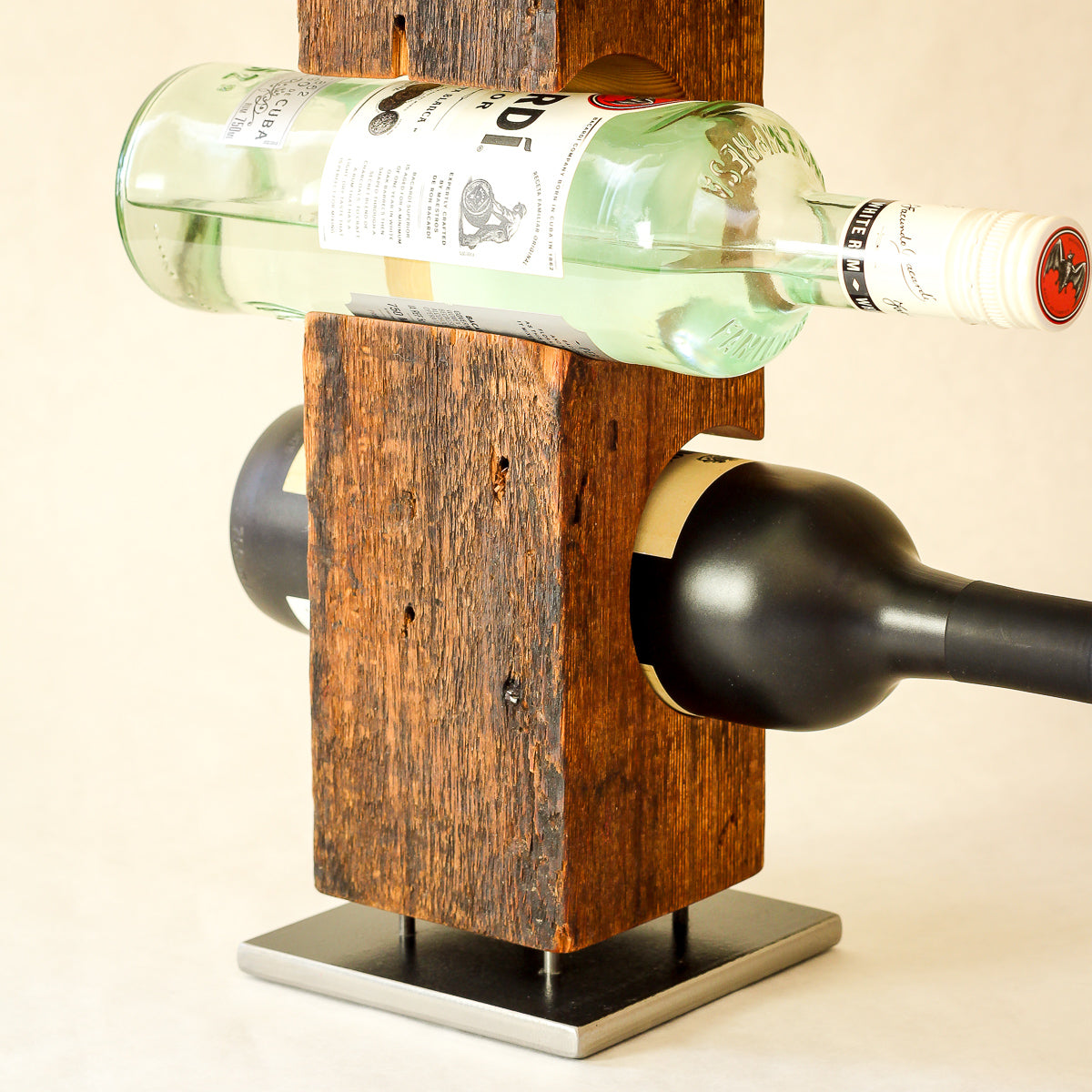 Custom Wine Rack from Reclaimed Mid-1800s Vermont Barn Wood (#1003)