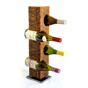 Mid-1800s Vermont Reclaimed Barn Wood Wine Rack