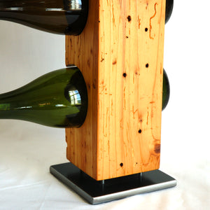 Custom-Made Wine Rack from Reclaimed Late-1800s Vermont Barn Wood