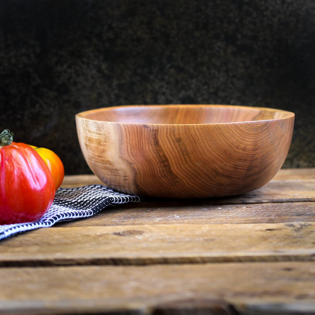 Butternut Wood Bowl, Small Dough Proofing Bowl