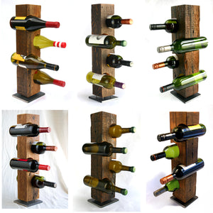 "Custom Wine Rack, Reclaimed 1800-1900 Barn Wood, Made-To-Order, ""Rough""/""Dark"" Wood"