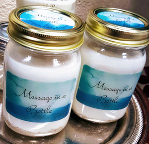 """Message In A Bottle"" Candle"