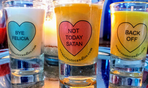 Salty Sayings - Shot Glass Candle
