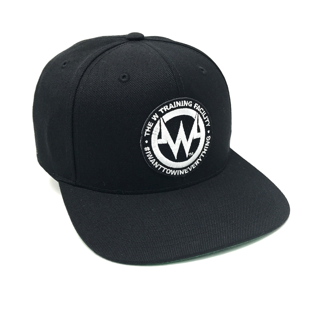 """The W"" Black Snapback Flatbill Hat"