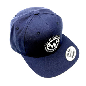 """The W"" Navy Snapback Flatbill Hat"