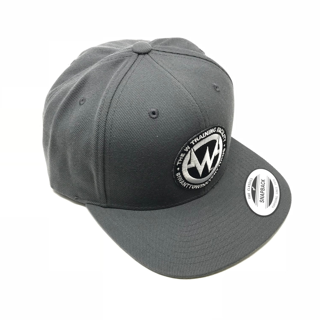 """The W"" Gray Snapback Flatbill Hat"