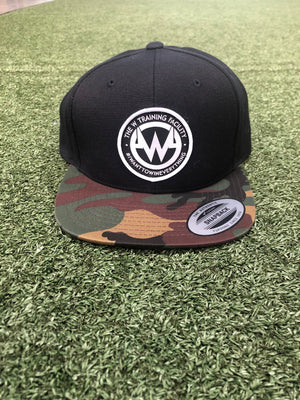 """The W"" Camo-Bill Snapback Flatbill Hat"