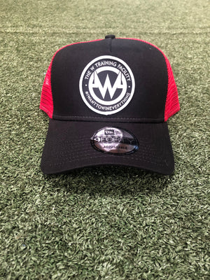 """The W"" RED/Black Snapback 9FORTY Hat"