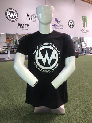 "Mens: Black ""The W"" Short Sleeved T-Shirt"