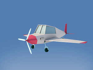 Cartoon Low Poly 3D Airplane