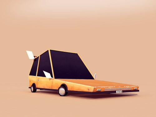 Cartoon Low Poly 3d Car