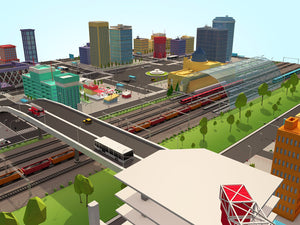 Low Poly Megapolis City Pack 2