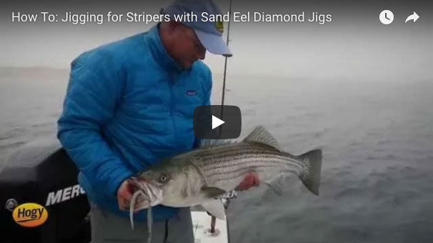 Video: Casting and Jigging Sand Eel Lures for Striped Bass
