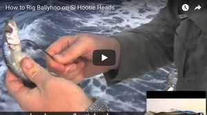 Video: How To Rig a Hoodie Head Skirted Ballyhoo for Trolling