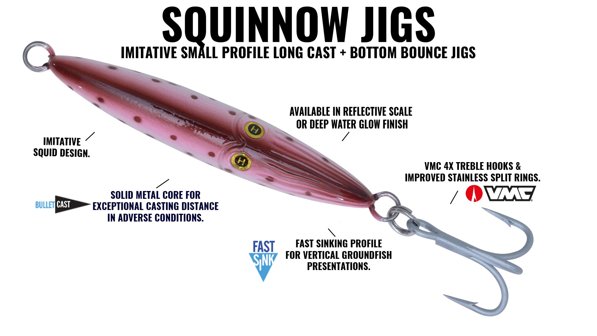 Vertical jig with squid assist Speed Jig with Squid Assist.