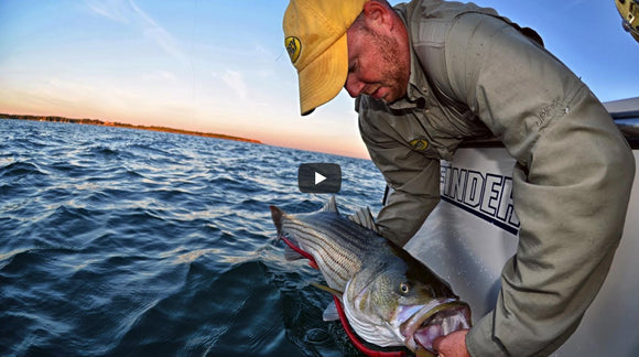 Video: Trolling Tube & Worm for Striped Bass