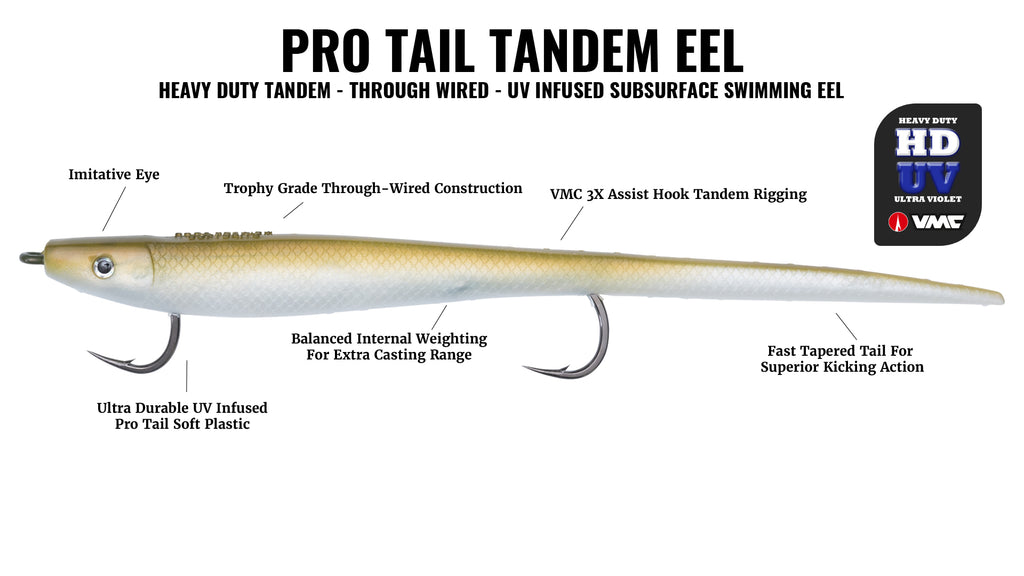 Hogy Lures Pro Tail Tandem Eel Soft Bait