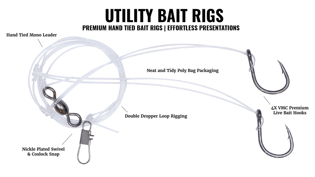 Hogy Lures Utility Double Dropper Loop Bait Rig