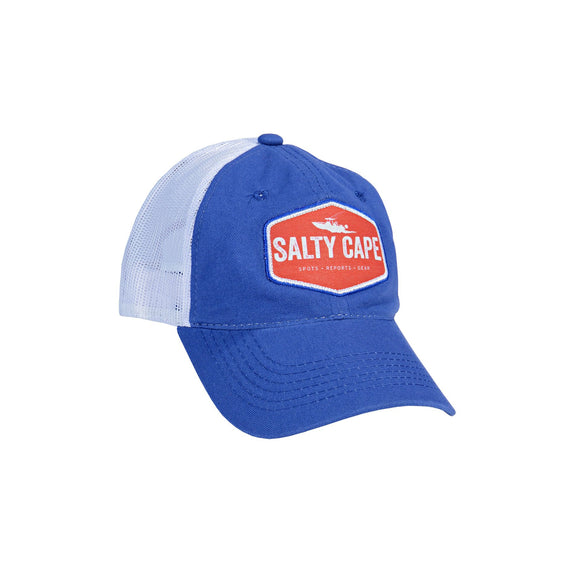 Salty Cape Hat: Blue Red Logo