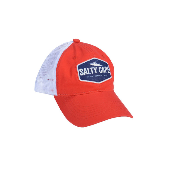 Salty Cape Hat: Red Blue Logo