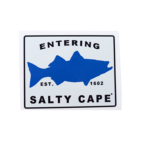 Salty Cape Striper sticker