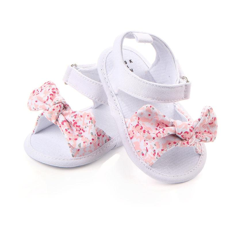 Non-Slip Canvas Girls Sandals with Bow