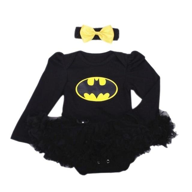 Batgirl Outfit with Headband - Black