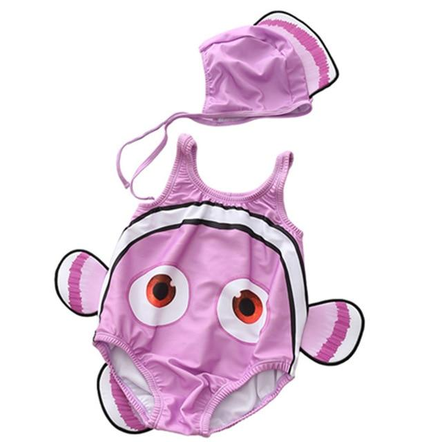 Adorable Sleeveless Baby Swimwear - Finding Nemo + Additional Color Options