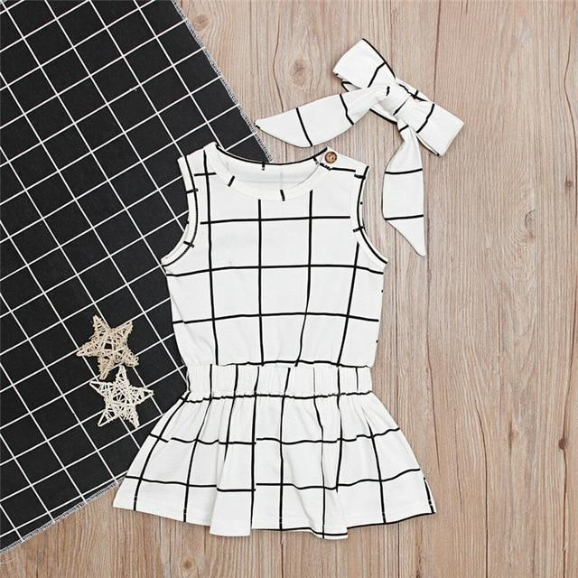 Black and White Sleeveless Romper