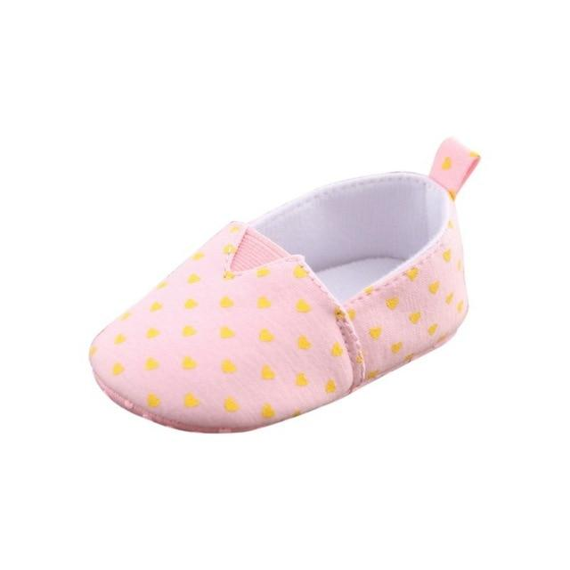 Soft Soled First Walkers - Heart Print