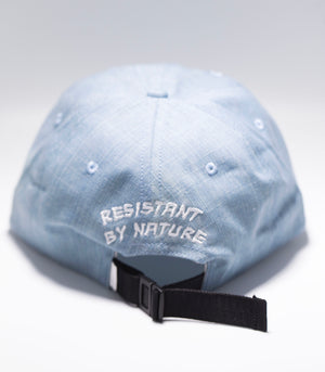 "Logo Dad Hat in ""Denim"" - Resistant By Nature"