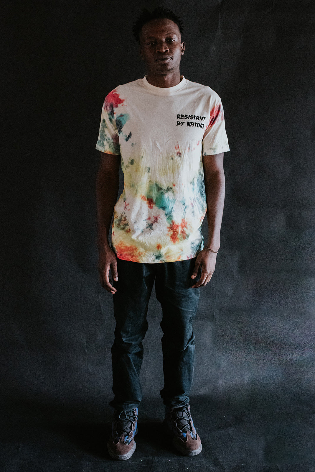 Spattered Dyed Tee (RED)