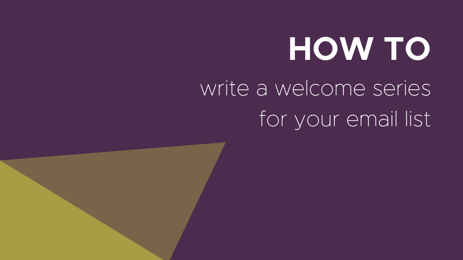 How to Write an Email Welcome Series