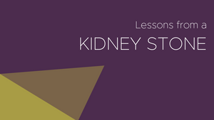Lessons From a Kidney Stone
