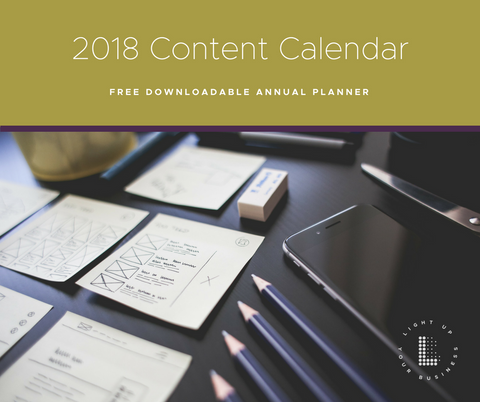 Free download content calendar 2018 annual plan your best year yet