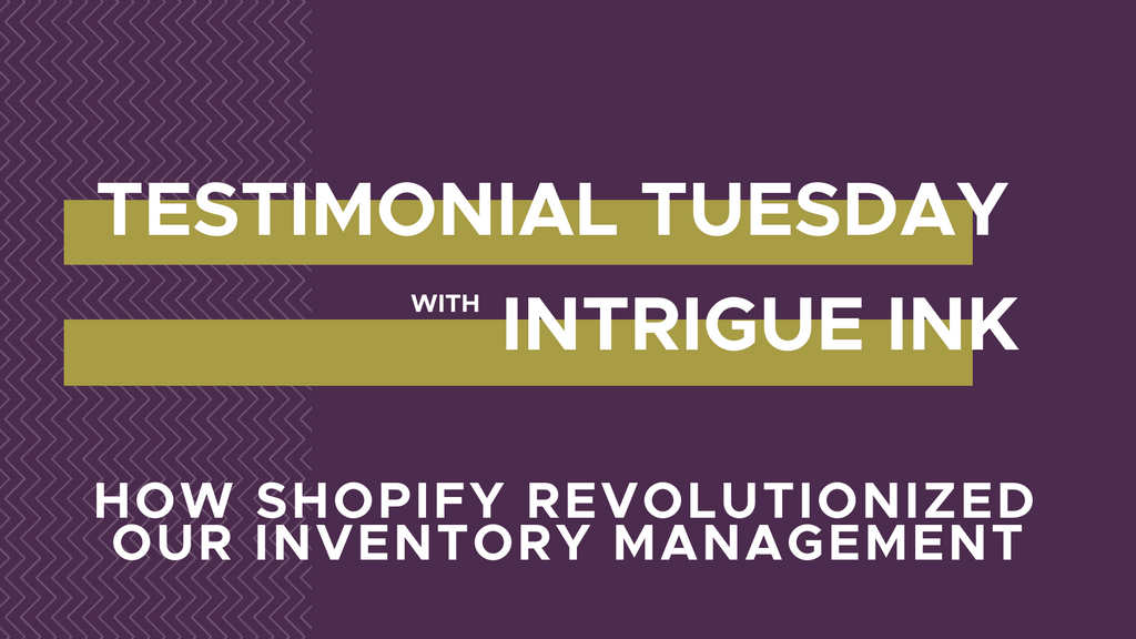Intrigue Ink Shopify website