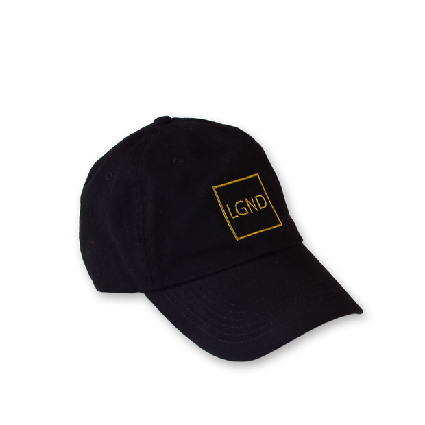 """LGND"" Dad Hat - Black w/ Gold"