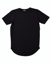 "Premium ""Scoop Hem"" Tee - Black"