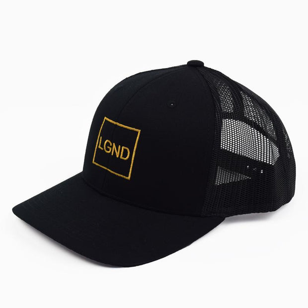 "Mesh ""LGND"" Hat - Black w/ Gold"