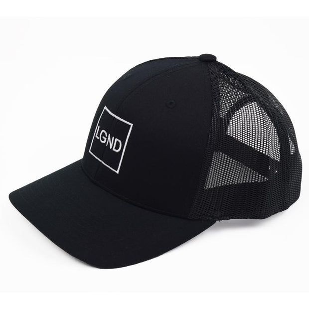 "Mesh ""LGND"" Hat - Black w/ White"