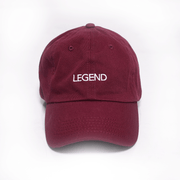 The LEGEND Dad Hat - Maroon w/ White
