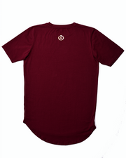 "Premium ""Scoop Hem"" Tee - Wine"