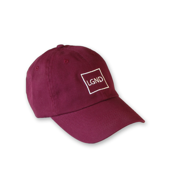 """LGND"" Dad Hat - Maroon"