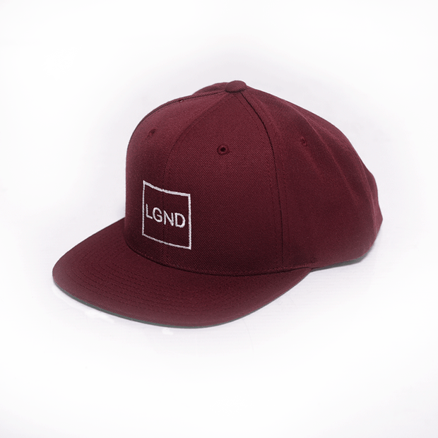 """LGND"" Snap Back - Wine w/ White"