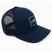"Mesh ""LGND"" Hat - Navy w/ White"