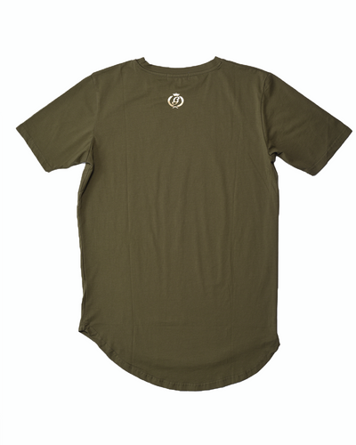 "Premium ""Scoop Hem"" Tee - Army Green"