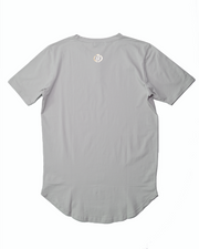 "The Henley ""Scoop Hem"" Tee - Oyster Blue *NEW*"