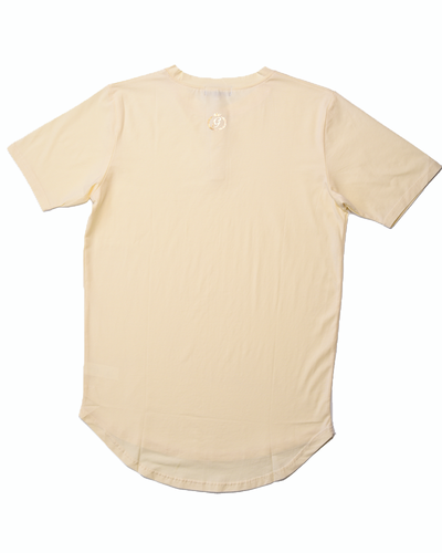 "The Henley ""Scoop Hem"" Tee - Butter *NEW*"