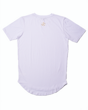 "Premium ""Scoop Hem"" Tee - White"