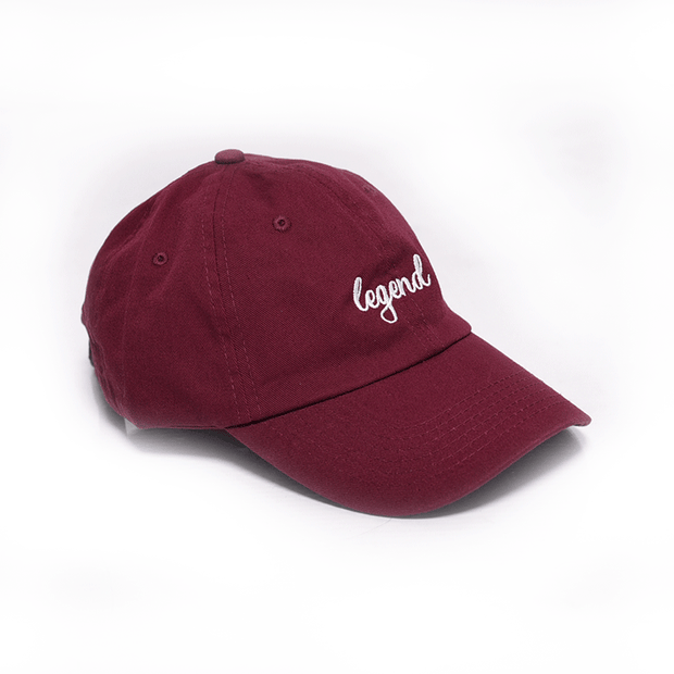 """John Hancock"" Dad Hat - Wine w/ White"